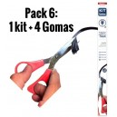 Pack 6 - Kit de gomas Escobillas planas + 4 Gomas repuesto!