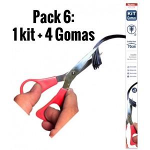 Pack 6 - Kit de gomas Escobillas planas + 4 Gomas repuesto!